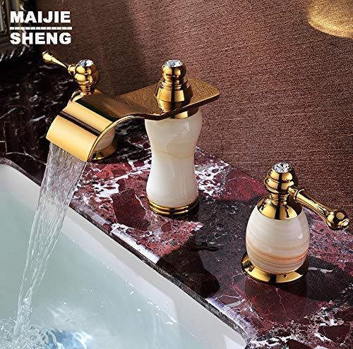 Salle de Bain en céramique Robinet Bol lavabo Robinet évier Robinet Salle de Bain robinets à Double poignée SD-T-001A