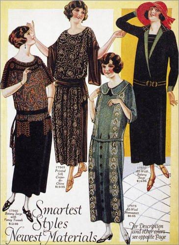 Forex-Platte 30 x 40 cm: Flappers, 1926. von Granger (Flappers Frisuren)