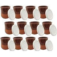 Couvercles et emballages RIOJA Gobelets yaourtière de bar pote de cuillère avec couvercle blanc 12 unités verres de…