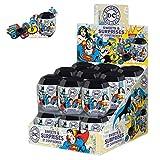 Caja de 18 x DC Comics Sorpresa de Huevos. (Batman, Mujer Maravilla, Superman) Rellenos de fósforo o Rellenos de Pinata.