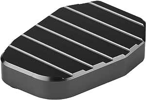 Keenso Motorrad Seitenständer Pad Cnc Aluminium Motorrad Seitenständer Vergrößern Verlängerung Polsterplatte Für Z1000 Z1000sx Zx10r Er6n Er6f Zx6r Schwarz Auto
