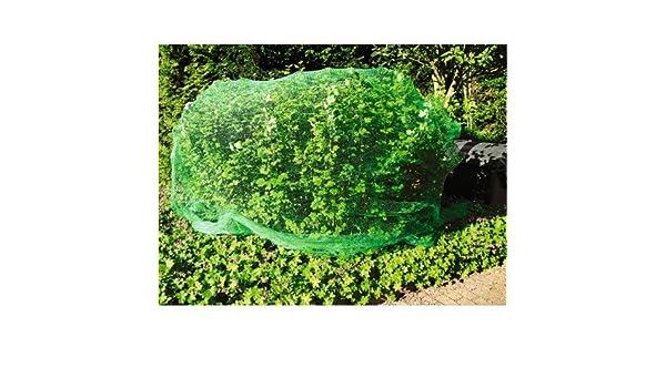 BURI Vogelschutznetz 5x4m gr/ün Teichnetz Laubschutznetz Pflanzenschutznetz Gartennetz