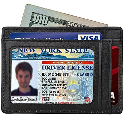 kinzd-mens-slim-leather-rfid-blocking-front-pocket-wallet-credit-card-holder-black