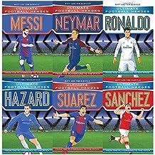 Ultimate Football Heroes Football Collection Series 1 and 2: 6 Books Bundles Giftset(Collect Them All -Messi,Neymar,Ronaldo,Hazard,Suarez,Sanchez)