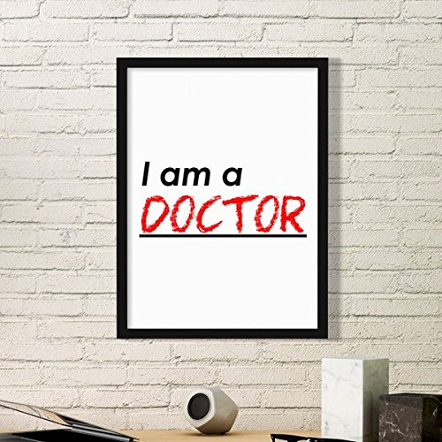 DIYthinker Zitat Ich Bin Arzt Einfach Bilderrahmen Kunstdrucke Malereien Startseite Wandtattoo Geschenk Small Schwarz