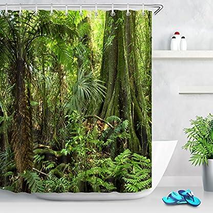 LB Cortinas de baño largas Resistente al Agua Anti Moho Tejido de poliéster Decoración de baño,A02