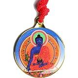 BUDDHAFIGUREN Collar Budista - Colgante de Medicina Buda con Kalachakra