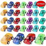 THE TWIDDLERS 32 vehículos de construcción y Coches impulsados por fricción Juguete Variados en 8 Colores Distintos - Ideales para Detalles de Fiesta, Rellenos de Bolsas de Fiesta y Regalos para niño