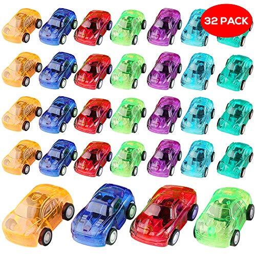 schiedene Rückzug Antrieb Autos & Baufahrzeuge in 8 Verschiedenen Farben - Ideal für Partygeschenke, Partytaschenfüller & Geschenke, mitgebsel aufzieh Spielzeug Auto ()
