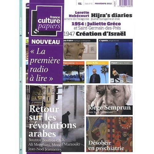 France Culture Papiers. N° 1. La première radio à lire de Collectif (2012) Broché