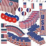 Partybox USA Amerika Party 49-teilig Deko Stars and Stripes Partypaket