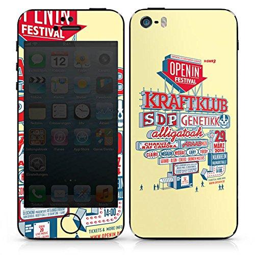 Apple iPhone 4s Case Skin Sticker aus Vinyl-Folie Aufkleber OpenIn Festival Hip Hop Rap DesignSkins® glänzend