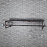LOFT Wanddekoration Regal Weinlese-Eisen-Rohr-Gestell-Bekleidungsgeschäft-Regal-Wand-Aufhänger an der Wand befestigte Kleidungs-Klempnerarbeit-Aufhängung Industrielle Dekoration Wand