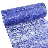 Dekoweb Runner - Banda Da Tavolo - Blu Scuro – 30 cm Larghezza – Lunghezza 5 m - 54-300-5-035