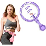Queta Fitnessbanden, verstelbare smart hoelaband met massagebet + smart counter+kleurrijke verlichting voor beginners, kinder