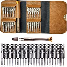 amiciKart 25-in-1 Multi Pocket Precision Alloy Steel Screwdriver Set Repair Tool Kit for Electronic Devices