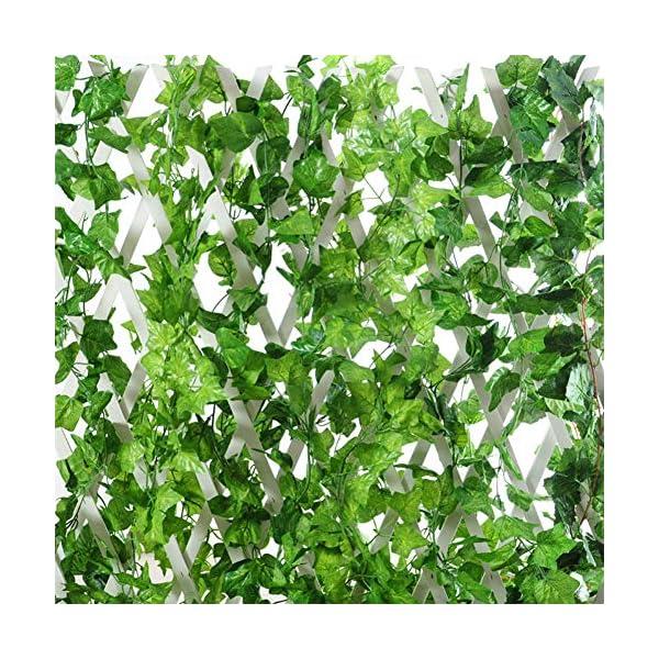 Homvik Eucalipto Artificial de 150 Hojas Plantas Guirnalda Artificiales Decoración Interior y Exterior Hogar Jardín…