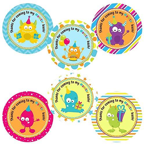 Adorebynat Party Decorations - EU Monster danken Ihnen Aufkleber Aufkleber - Jungen-Mädchen-Kindergeburtstags-Baby-Partei liefert Dusche - Set 30 (Ihnen Baby-dusche Karten Danken)