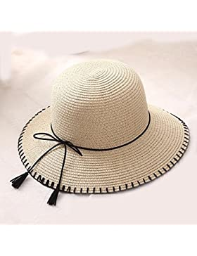 LVLIDAN Sombrero para el sol del verano Lady Anti-Sol Playa pescador hat beige