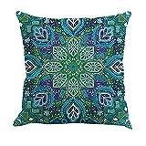 HLHN Indische Mandala Kissenbezüge Rechteck Bohemian Home Sofa/Café/Bibliothek/Buchladen/Partei/Verein Kissen Cover, Größe: 45 x 45cm (AA)
