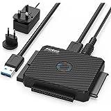 USB IDE ou SATA Adaptateur, FIDECO USB 3.0 Adaptateur de Disque Dur pour SATA HDD/SSD & IDE de 2,5/3,5 Pouces, Comprend 12 V 2A Puissance Adaptateur et Câble USB 3.0