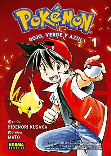 Pokémon. Rojo, verde y azul 1. por Hidenori Kusaka- Mato