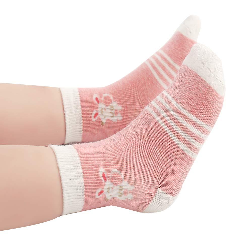 Beb/é Calcetines Ni/ña Cotton Coming Rosa Algod/ón Ni/ñas Calcetines Beb/é,9 Pares Lindo adj