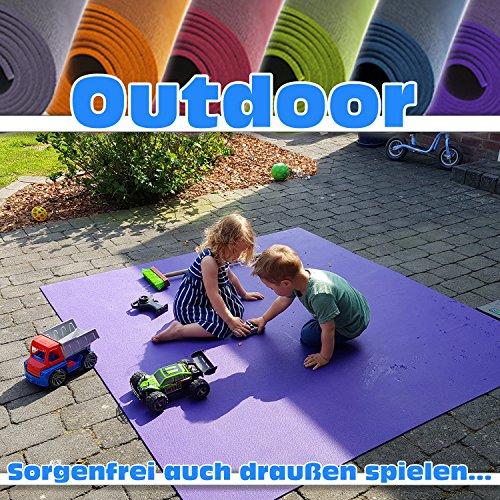 *Outdoor Krabbelmatte Krabbelunterlage SanoSoft made in Germany – Öko-Tex 100 180×300 cm Grün*