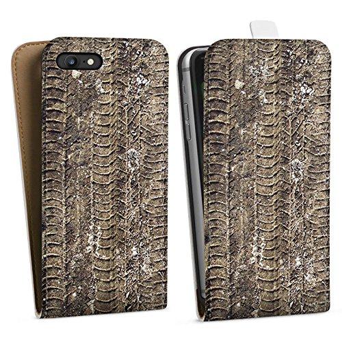 Apple iPhone X Silikon Hülle Case Schutzhülle Reifenspuren Spuren Abdruck Downflip Tasche weiß