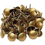 Sharplace 400 klinknagels voor wandtapijt, messing, koper, decoratieve meubels, DIY, 10 x 10 mm