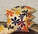Zikrak Exim Set of 5 Poly Dupion Cushion...