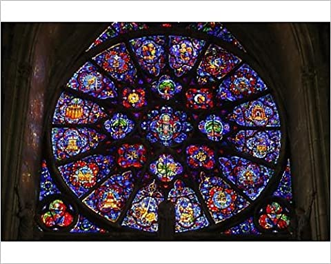 Photographic Print of The 18th century rose window dedicated to