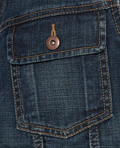 Veste sans manches pour homme jeans jean délavé) Bleu - Bleu denim