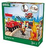 BRIO World 33815 - Bahn Feuerwehr Set  TV Artikel, bunt