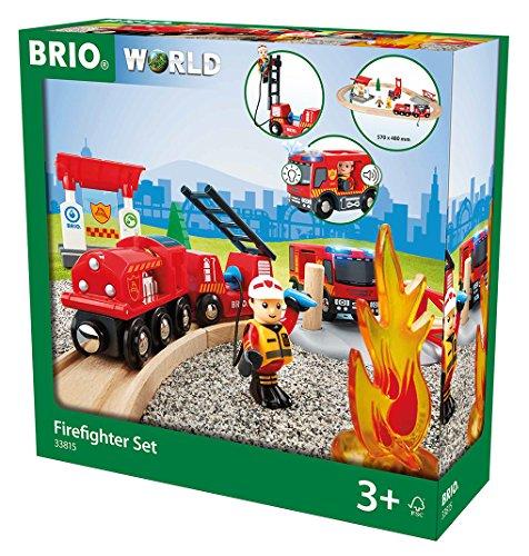 BRIO 33815 - Bahn Feuerwehr Set  TV Artikel, bunt