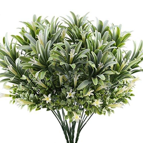 Nahuaa 4 pz piante artificiali da esterno interno mazzi finti fiori gloria mattutina bouquet arbusti plastica composizioni cespugli per decorazioni balcone giardino vaso cimitero casa cucina ufficio