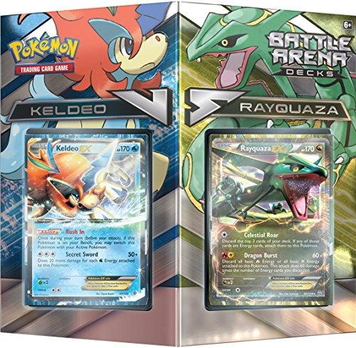Pokemon pok80168TCG Kampf Arena Deck Rayquaza VS Keldeo Kartenspiel (Karten Pokemon Deck 60 Ex)