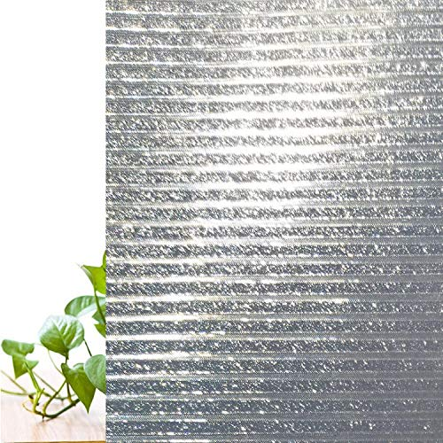 libby-nice Size 45 * 200Cmstatic Cling Glass Frosted Window Film Blinking Diamond Stripes Pattern Room Door Privacy Protection Decorative Sticker - Libby Stripe