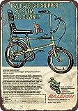 qidushop 1970Raleigh Chopper Bicicletta Riproduzione Metal Sign for Home Wall Art Decor Post placca per Donne Uomini 30x 45cm
