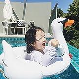 niceEshop(TM) Baby Aufblasbar Wasser Weiß Swan Schwimmer Spielzeug Baby Sitz Schwimmen Schellt Pool Schwimmen Beliebte Sommer Pool Floss, Weiß