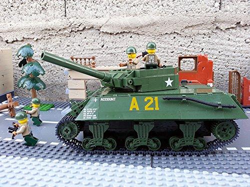 Modbrix 2475 – ★ US ARMY Jagdpanzer M-10 Wolverine Panzer inkl. custom US Army Soldaten aus original Lego© Teilen ★ - 2