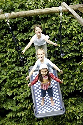 Große Mehrkindschaukel STANDARD weiß/violett für 4 Kinder, 136 x 66 cm (SPR.L.103) - das Original direkt vom Hersteller die-schaukel.de