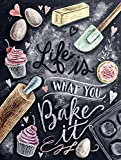 SHAWPRINT Metall Vintage Retro Shabby Chic Dose K?che Wandschild LIFE IS WHAT YOU Bake It (2978)