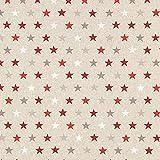 Fabulous Fabrics Halbpanama Lurex Sterne, klein – Gold — Meterware ab 0,5m — Oeko-Tex Standard 100 — zum Nähen von Outdoor-Deko, Kissen und Tagesdecken und Tischdekorationen