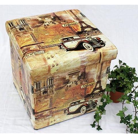 Sgabello in similpelle Seduta-sgabello 2004 Pacco d'imballaggio 40cm Cubo-seduta Cassa Cassa in pelle