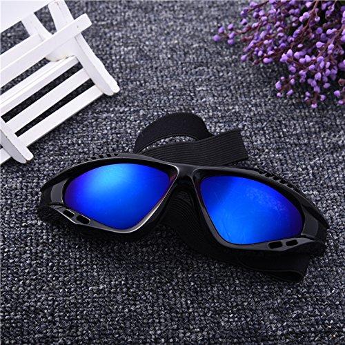 Aprigy - Big Dog Sonnenbrille Haustier-Gl?Ser Anti-UV-Gl?Ser f¨¹r Big Dog in der Nacht Tragen und Tags¨¹ber Ausgehen [Blau ]