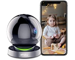 Imou WiFi Security Camera Indoor 1080P, 360° Wireless CCTV IP Camera, Smart Home Surveillance Dome Camera Baby Pet Monitor, A