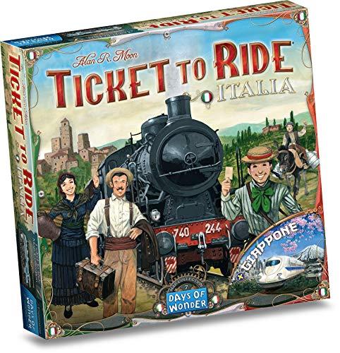 Asmodee Italia + Giappone due bellissime mappe per il gioco da tavolo Ticket To Ride, Colore, 8507