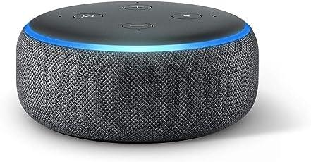 Das neue Echo Dot (3. Gen.) Intelligenter Lautsprecher mit Alexa, Anthrazit Stoff