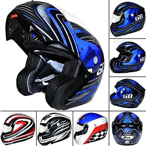 dak-ff936-flip-up-front-helmet-black-blue-xl-scooter-motorbike-motorcycle-crash-helmet